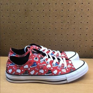 Hello Kitty Converse All Star Low Women's sz 7-8.5